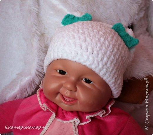 Решила связать шапочки для младенцев для фотосъемки =) вот, что у меня получилось =) фото 3