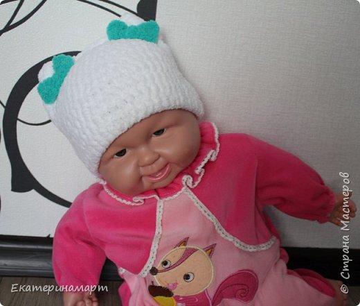 Решила связать шапочки для младенцев для фотосъемки =) вот, что у меня получилось =) фото 4