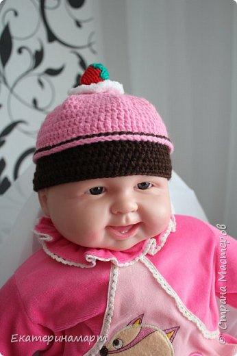 Решила связать шапочки для младенцев для фотосъемки =) вот, что у меня получилось =) фото 2
