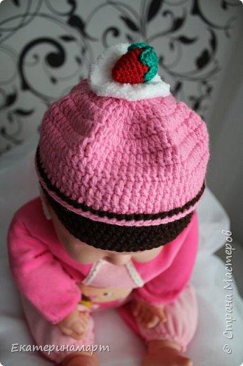 Решила связать шапочки для младенцев для фотосъемки =) вот, что у меня получилось =) фото 1