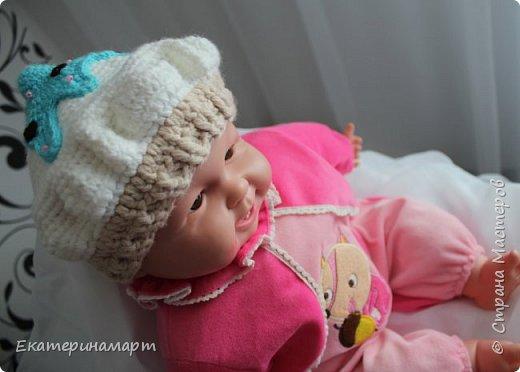 Решила связать шапочки для младенцев для фотосъемки =) вот, что у меня получилось =) фото 5