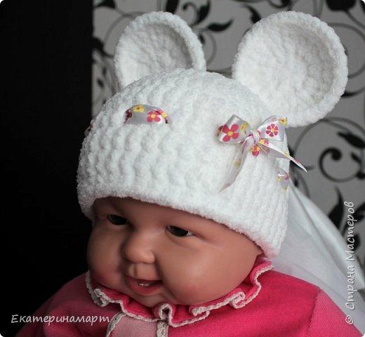 Решила связать шапочки для младенцев для фотосъемки =) вот, что у меня получилось =) фото 6