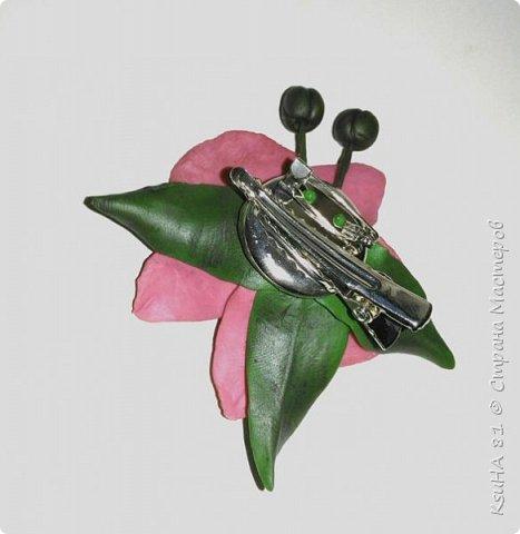 """моя первая работа из полимерной глины modern """"ЗАКОЛОЧКА-БРОШЬ с орхидеей""""... фото 3"""
