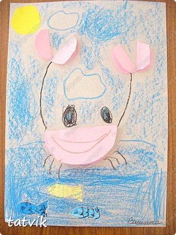 Решили с ребятами 5-6 лет сделать таких крабиков. Нетрудно и интересно. За идею спасибо Людмиле Т. http://stranamasterov.ru/node/933395?c=favorite . Детские работы получились разные и такие выразительные. фото 1