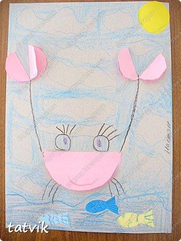 Решили с ребятами 5-6 лет сделать таких крабиков. Нетрудно и интересно. За идею спасибо Людмиле Т. http://stranamasterov.ru/node/933395?c=favorite . Детские работы получились разные и такие выразительные. фото 3