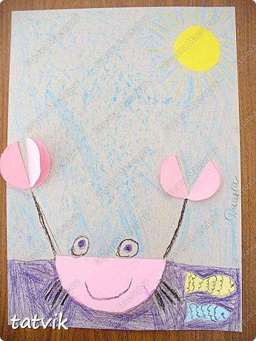 Решили с ребятами 5-6 лет сделать таких крабиков. Нетрудно и интересно. За идею спасибо Людмиле Т. http://stranamasterov.ru/node/933395?c=favorite . Детские работы получились разные и такие выразительные. фото 2