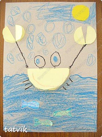 Решили с ребятами 5-6 лет сделать таких крабиков. Нетрудно и интересно. За идею спасибо Людмиле Т. http://stranamasterov.ru/node/933395?c=favorite . Детские работы получились разные и такие выразительные. фото 4