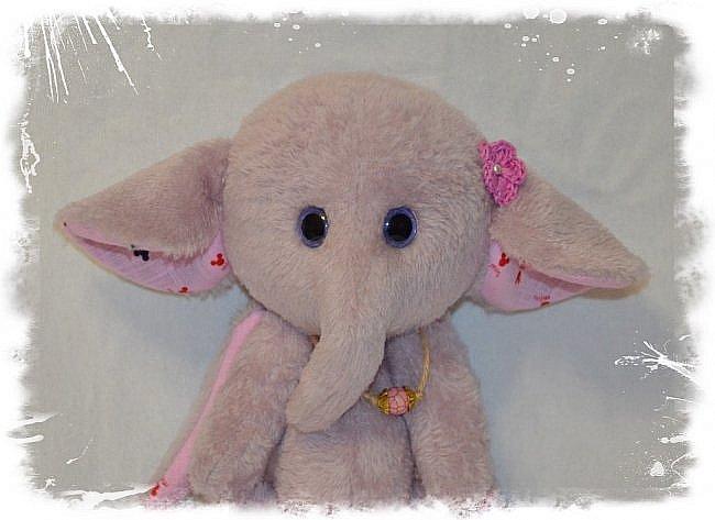 Всем Привет!!! Встречайте Новых Плюшек))) Слоняшка-Сиренька))) Рост 22 см. фото 2