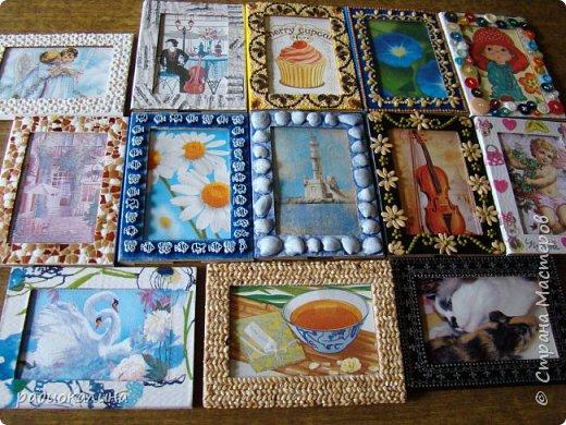 Так случилось, что мне подарили для творчества рамки картонные , хотелось в работе показать как по-разному можно декорировать их в зависимости от сюжета и изображения на фото или картине. Надеюсь, что мне удалось декорировать их неожиданно и оригинально и кому-то мои работы пригодятся в дальнейшем. Фотографий много - запаситесь терпением. Спасибо за внимание! фото 1