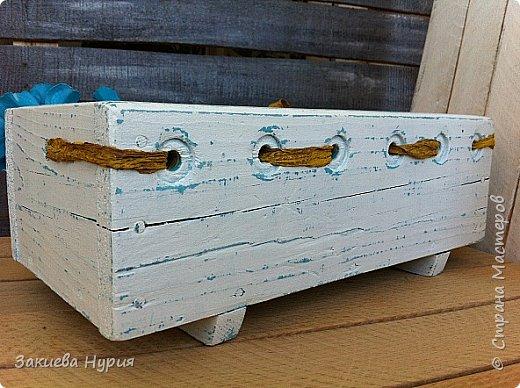 Здравствуй страна! Очередные мои отреставрированные рассадные ящики. Были они страшные валялись на задворках дачи я их реанимировала получилось так: фото 6