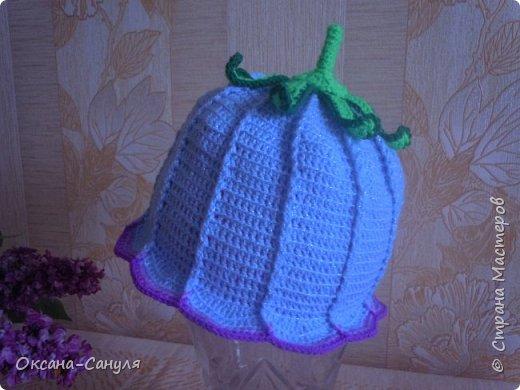 Шляпок такого типа я не вязала.Это первый учебный вариант.Самая большая проблема- у меня- пришить всю эту красоту на шляпку.Нитки остались от предыдущего заказа--решила сделать подарок для девочки.Вот что получилось. фото 4