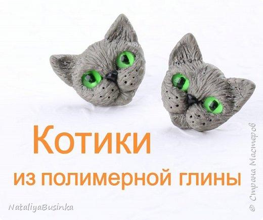"""Видеоурок: лепим серьги """"Котики"""" из полимерной глины"""