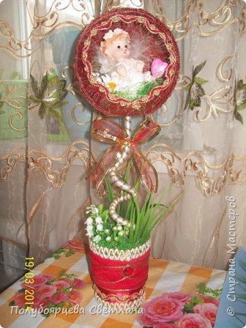 "Топиарий ""домик для ангелочка"" фото 3"