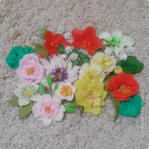 Мои орхидеи из фоамирана фото 9