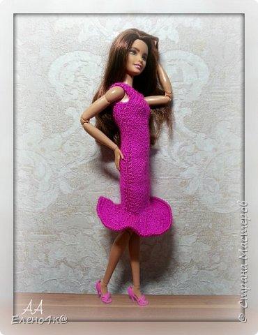 Скоро лето и модным девочкам нужны новые, модные наряды. Особенно, таким ярким, как Джой))  Основа платья взята с сайта http://www.kimberly-club.ru/forum/?FID=18&PAGE_NAME=message&TID=6013  Наше новое платье, выполненное спицами и крючком.  фото 5