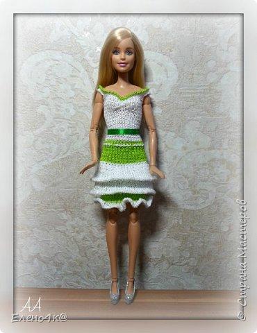 На днях связала вот такое платье для Улы.  Эта девочка такая милая, что светлые, невесомые тона ей очень идут. Моя фея)  Основа платья взята с сайта http://www.kimberly-club.ru/forum/?FID=18&PAGE_NAME=message&TID=6013  фото 2