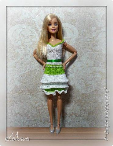 На днях связала вот такое платье для Улы.  Эта девочка такая милая, что светлые, невесомые тона ей очень идут. Моя фея)  Основа платья взята с сайта http://www.kimberly-club.ru/forum/?FID=18&PAGE_NAME=message&TID=6013  фото 3
