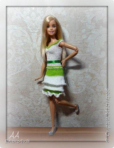 На днях связала вот такое платье для Улы.  Эта девочка такая милая, что светлые, невесомые тона ей очень идут. Моя фея)  Основа платья взята с сайта http://www.kimberly-club.ru/forum/?FID=18&PAGE_NAME=message&TID=6013  фото 4