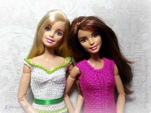 Скоро лето и модным девочкам нужны новые, модные наряды. Особенно, таким ярким, как Джой))  Основа платья взята с сайта http://www.kimberly-club.ru/forum/?FID=18&PAGE_NAME=message&TID=6013  Наше новое платье, выполненное спицами и крючком.  фото 6