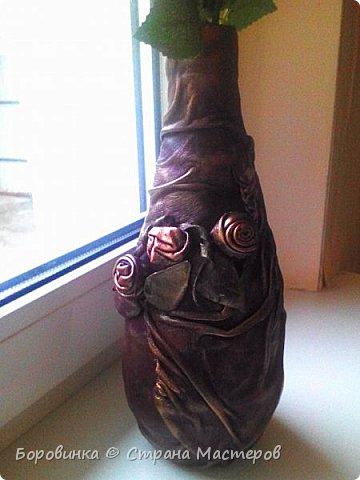 """Всем привет! Девочки , вазы разной формы из стеклянных бутылок """"Быстрее не бывает"""" или как я их делаю. Специально для Валентины Острицовой и Натали ( Рудбекия). фото 17"""