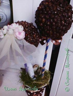 Делала на заказ на годовщину свадьбы . Так быстро никогда ещё не делала ,так как был очень срочный заказ ,попросили сделать буквально за вечер ,но все же успела . (На фото ещё клей не высох ) фото 3