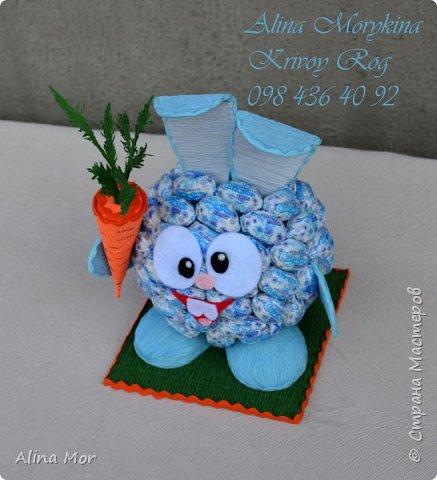 Детские композиции из конфет фото 7