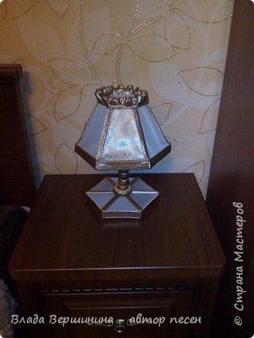 Вот такой торшер и два светильничка  я сделала в спальню фото 4