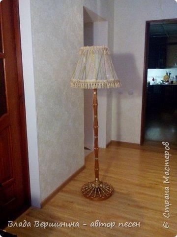Вот такой торшер и два светильничка  я сделала в спальню фото 2