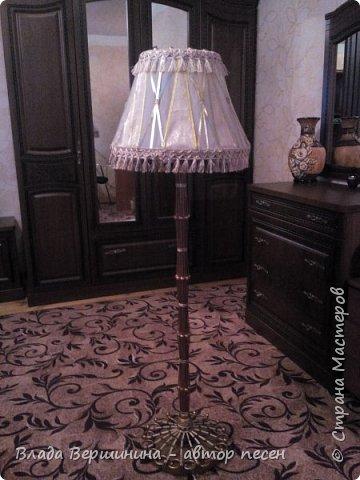 Вот такой торшер и два светильничка  я сделала в спальню фото 1