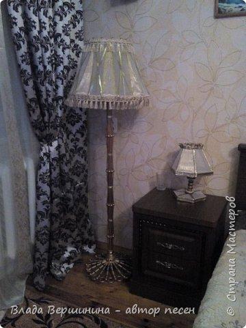 Вот такой торшер и два светильничка  я сделала в спальню фото 3