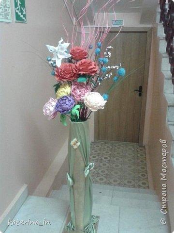 К юбилею д/с  попросили оформить напольную вазу. фото 5