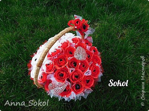 Корзина сладких роз))) фото 1