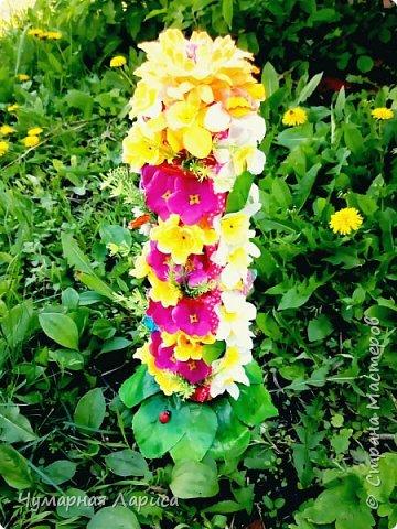 Цветочная пирамидка фото 1