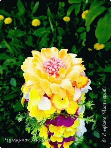 Цветочная пирамидка фото 2