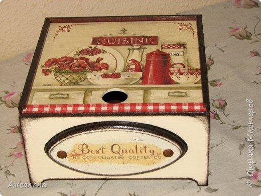 Коробочка для чайных пакетиков с выдвижной крышкой. фото 4