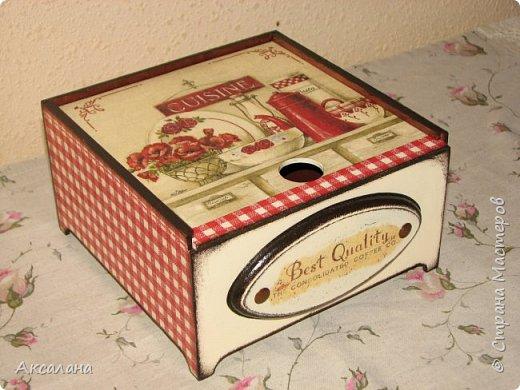 Коробочка для чайных пакетиков с выдвижной крышкой. фото 1