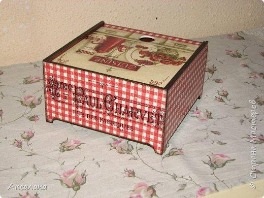Коробочка для чайных пакетиков с выдвижной крышкой. фото 5