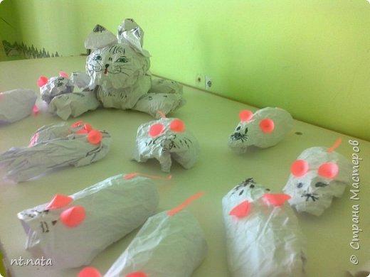 Забавные мышки для кошки делали детки средней группы. фото 6