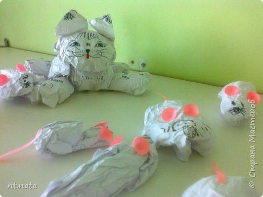 Забавные мышки для кошки делали детки средней группы. фото 1