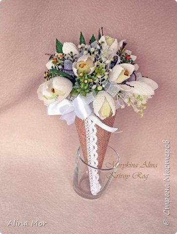 Ручной букет 15 роз фото 7