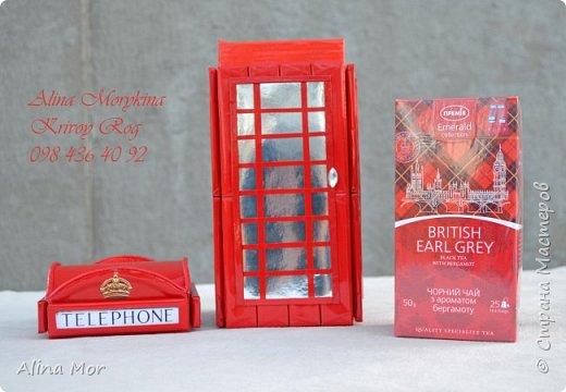Английская телефонная будка - оформление чая фото 2