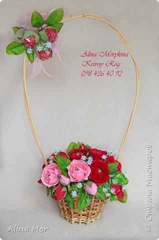 Ручной букет 15 роз фото 2