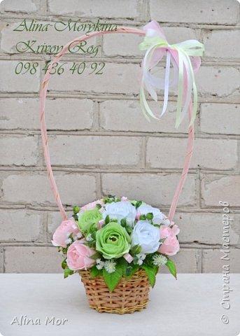 Ручной букет 15 роз фото 4