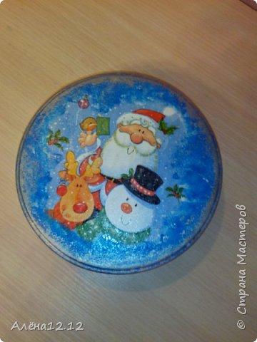 Заснеженная шкатулка для ёлочных украшений фото 5