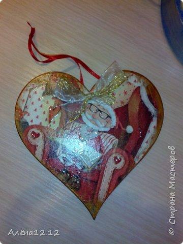 Заснеженная шкатулка для ёлочных украшений фото 6