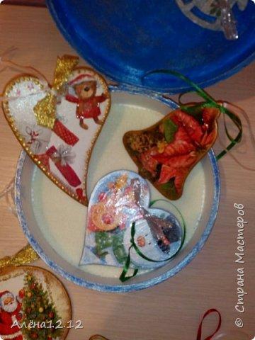 Заснеженная шкатулка для ёлочных украшений фото 8