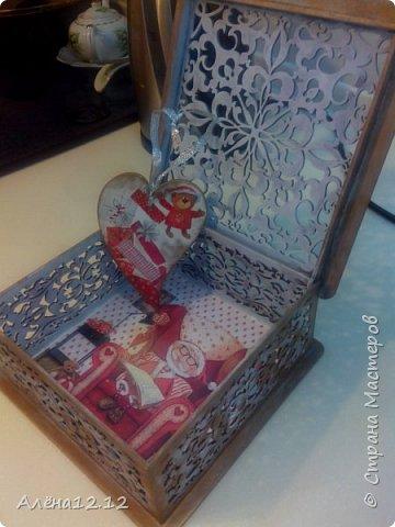 Заснеженная шкатулка для ёлочных украшений фото 3