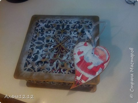 Заснеженная шкатулка для ёлочных украшений фото 4