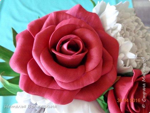 Букет роз и пионов фото 4