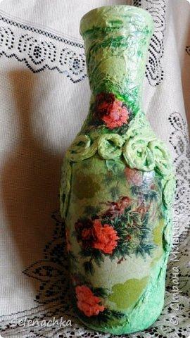 Моя первая вазочка из бутылки.